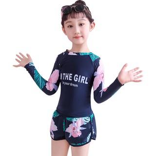 Đồ bơi bé gái tay dài – 2 MÀU