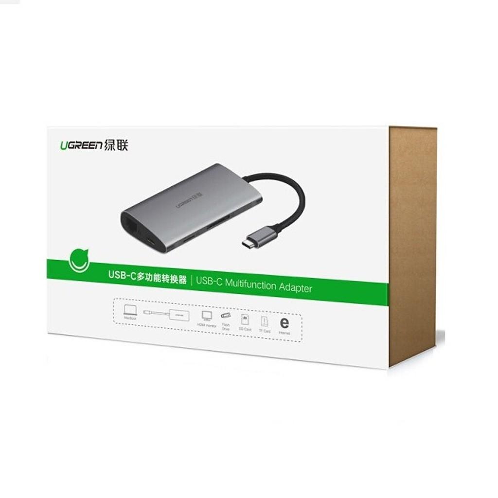 [Mã SKAMPUSHA7 giảm 8% đơn 250k]Cáp USB type-C to VGA/USB 3.0/SD/TF/Lan Ugreen 50539