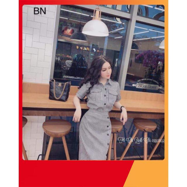 3103895157 - [KHUYẾN MẠI] Set áo caro + chân váy bút chì_BN1520 thời trang công sở nữ