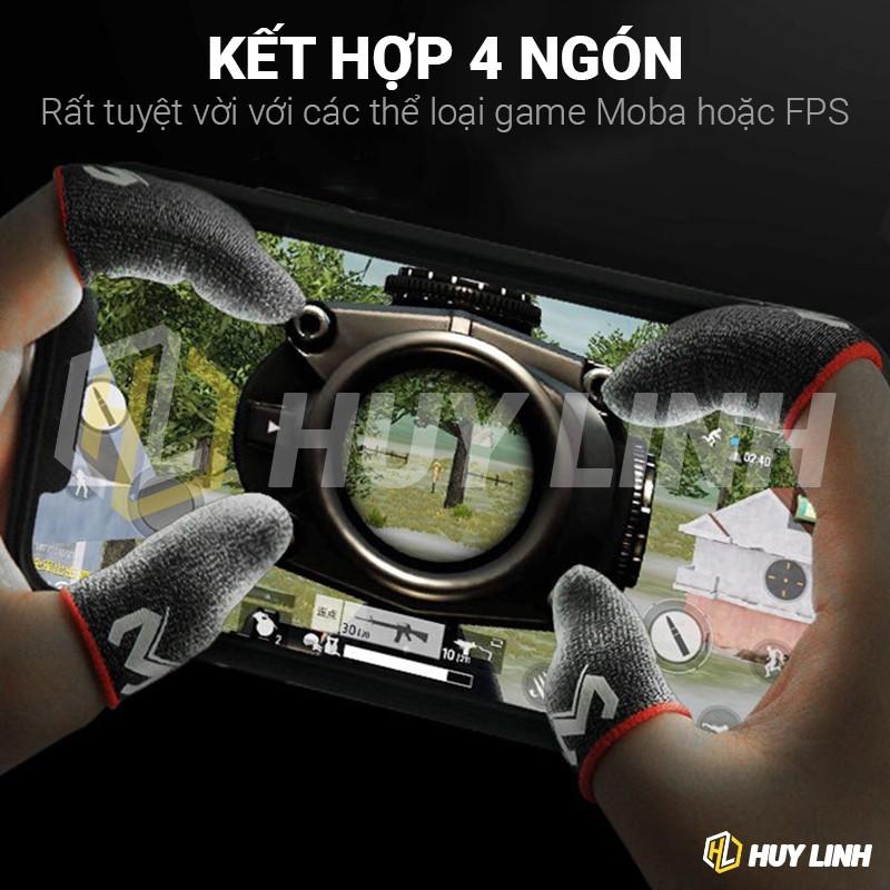 Bộ 2 Găng tay chơi game Memo HL03 sợi bạc cảm ứng chống mồ hôi cho tốc chiến, Pubg, FOG GT03