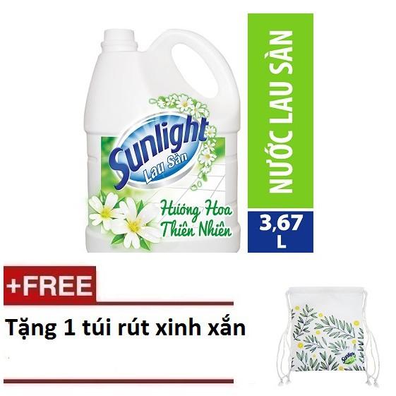 [Quà] Nước lau sàn Sunlight Hương Hoa Thiên Nhiên chai 3.8kg (MSP 67425836) + Tặng 1 túi rút xinh x