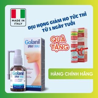 Xịt họng giảm ho-Giảm ngứa rát họng-Khô họng-Bảo vệ hầu họng khỏi tác nhân xấu-Golanil Orale Spray-Nhập khẩu Italy thumbnail