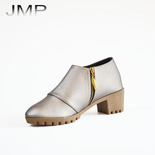 Giày Bốt Nữ Phong Cách Hàn Quốc 4cm - JMP - Đế Cao Su - Quai Da PU - BOT05
