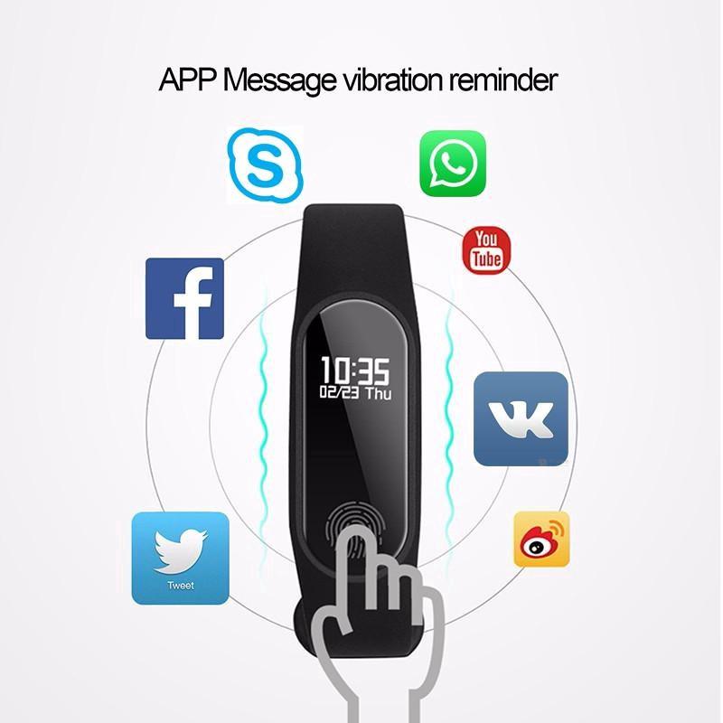 Đồng Hồ Thông Minh Tích Hợp Đo Nhịp Tim Ip67 Có Thể Tháo Rời Cho Iphone Android