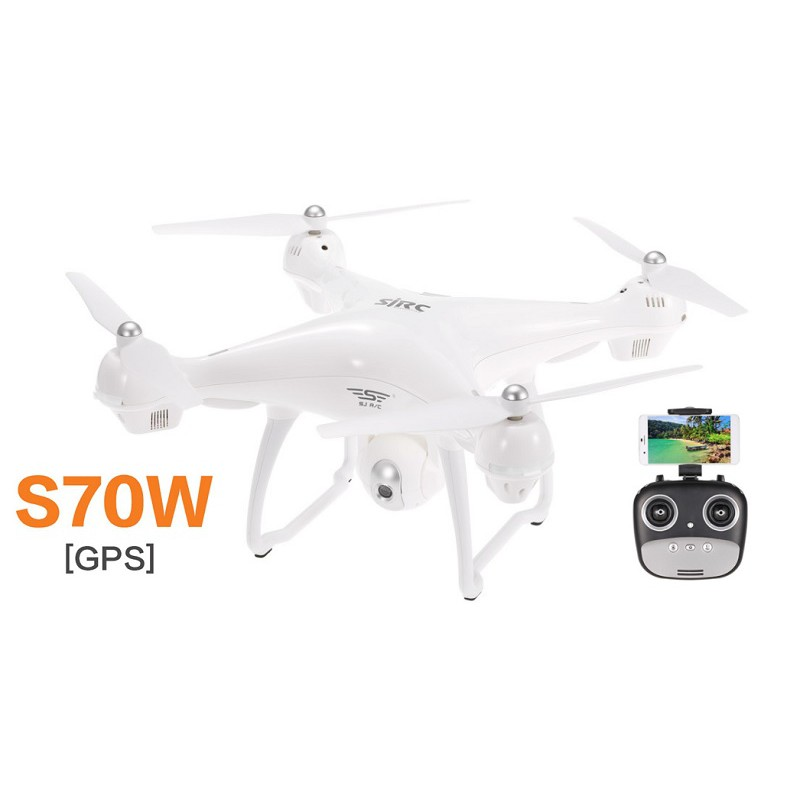 [GIÁ HỦY DIỆT] Máy bay Flycam S70W 1080p 2 GPS camera cực nét