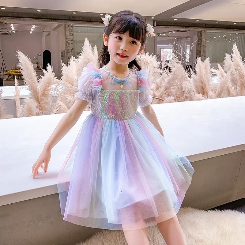 Đầm Công Chúa Đính Kim Sa Cho Bé Gái