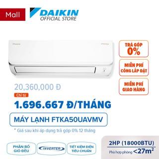 Máy Lạnh Daikin Inverter FTKA50UAVMV 2HP (18000BTU) - Tiết kiệm điện Chống Ăn mòn thumbnail