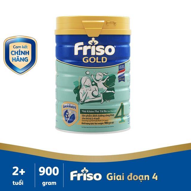 [Mã 267FMCGSALE giảm 8% đơn 500K] Sữa bột Friso gold 4 900g date Mới