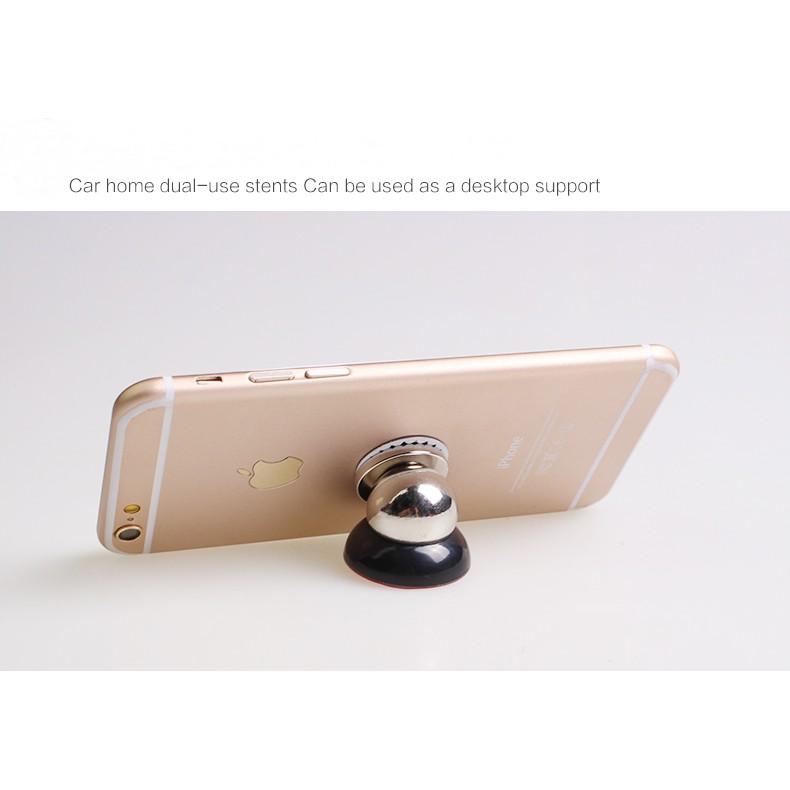 Bộ hít nam châm giá đỡ điện thoại trên xe hơi (Đen)