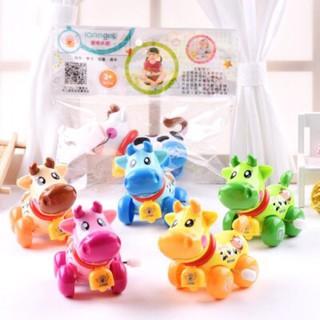 Đồ chơi vặn cót hình con Bò IQAngel ,đồ chơi hình thú,đồ chơi hoạt hình,đồ chơi hình con vật