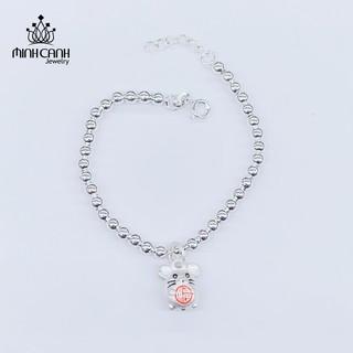 Lắc Bạc Bi Trẻ Em Mix Con Chuột Ôm Chữ Phúc - Minh Canh Jewelry