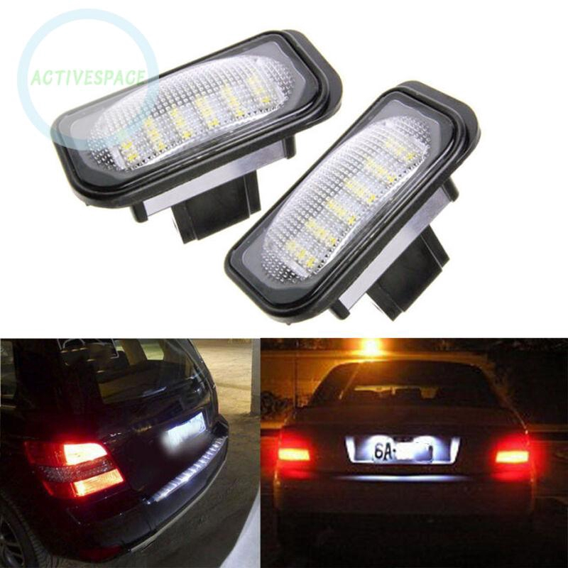 Set 2 đèn chiếu biển số xe 18 bóng LED cho xe Mercedes 01-07 W203 4D C280 C350 6000K - 23015383 , 2848273001 , 322_2848273001 , 268444 , Set-2-den-chieu-bien-so-xe-18-bong-LED-cho-xe-Mercedes-01-07-W203-4D-C280-C350-6000K-322_2848273001 , shopee.vn , Set 2 đèn chiếu biển số xe 18 bóng LED cho xe Mercedes 01-07 W203 4D C280 C350 6000K