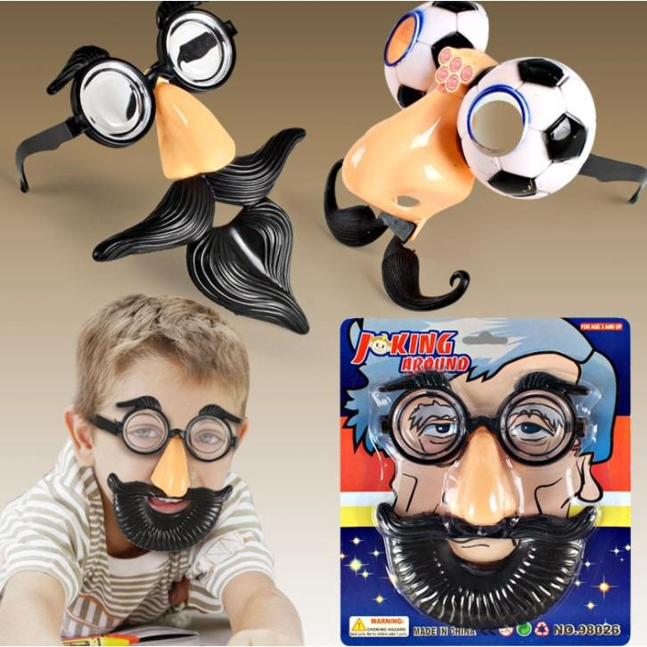 Mask Face Props False Beard Funny Toy