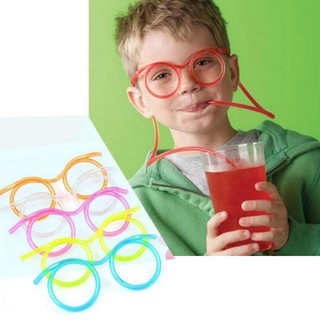 Ống hút nhựa hình mắt kính