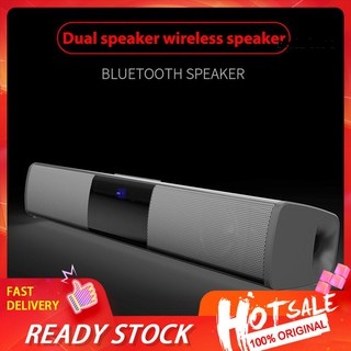 【Ready stock】 Home Theater Long Soundbar FM Radio Subwoofer Stereo Wireless Bluetooth Speaker