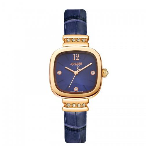 Đồng hồ nữ dây da Julius JA-863D JU1067 (Xanh) chính hãng Hàn Quốc