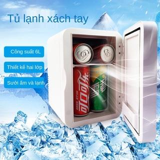 tủ lạnh ô tô 6L mini gia đình ký túc xá tủ lạnh di động ô tô gia đình hộp sưởi và làm mát hai mục đích bán buôn tủ lạ thumbnail