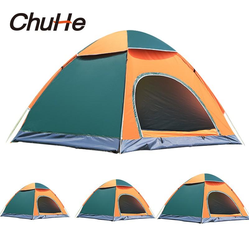CHUHE 1-4 Người Mái vòm chống thấm Có thể gập lại tự động Lều trại nhanh chóng tức thì Lều cắm trại trên bãi biển để cắm trại, đi bộ đường dài và đi chơi , Nơi trú nắng Tabernacle