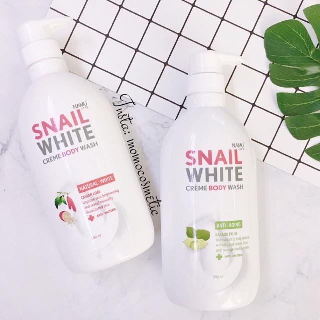 Sữa tắm dưỡng trắng da Snail White
