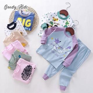 Bộ quần áo ngủ cotton dài tay đáng yêu cho bé