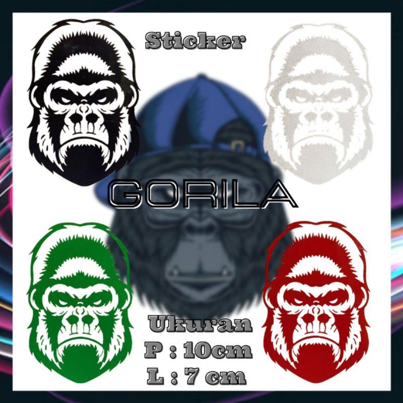 Decal dán trang trí xe hơi hình Gorila
