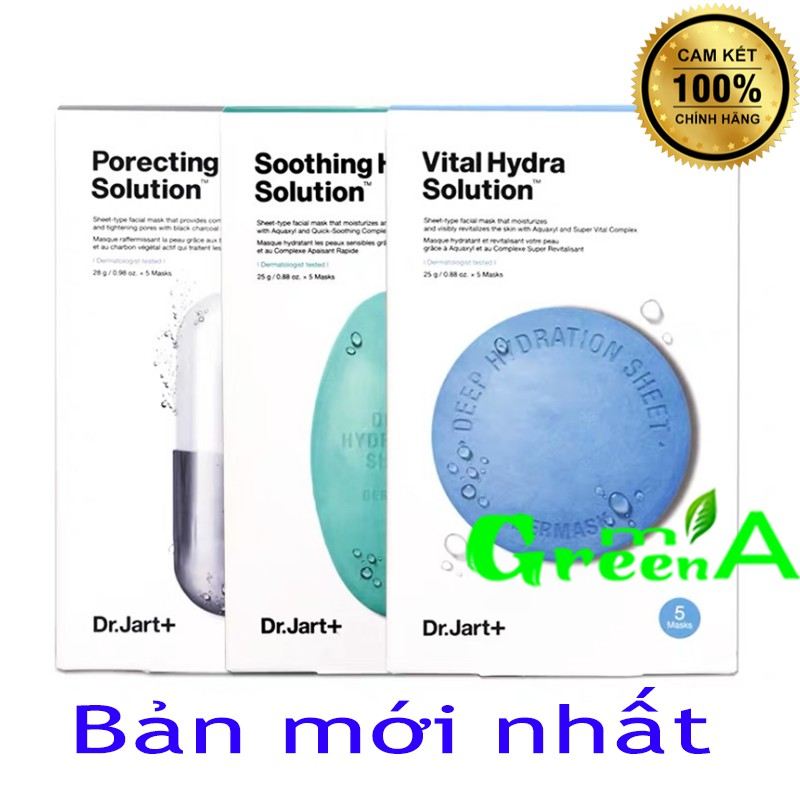 Mặt nạ Dr.jart+ Hàn Quốc Dr Jart Dermask Water Jet Vital, Soothing, Ultra Jet Porecting Vital Hydra Solution Capsule