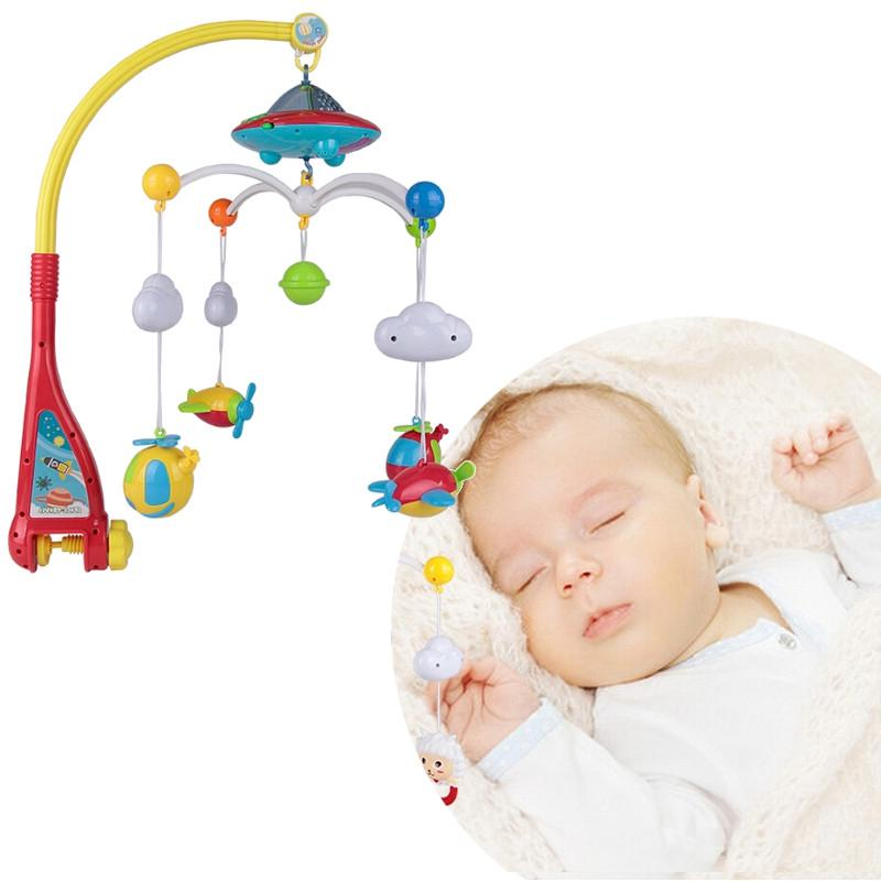 Musical Baby Bed Bell Rotating Starry Sky Projection Remote Control Hanging