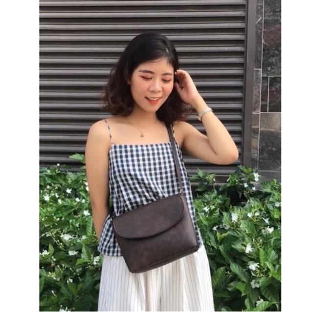 [Mã FATHANG5 giảm 10K đơn 50K] Túi da đeo chéo nữ dáng hộp thư mini đi chơi cute vintage Hàn Quốc CUL limi bags