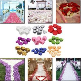 Bộ 100 cánh hoa hồng lụa trang trí thumbnail