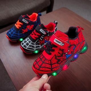 Giày thể thao họa tiết người nhện xinh xắn dành cho bé 3-12 tuổi