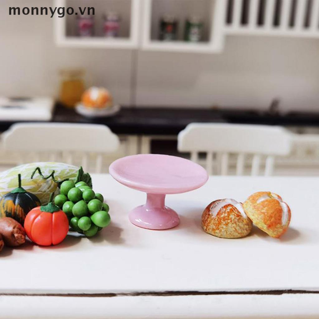 【monnygo】 1:12 Dollhouse Miniature Dessert Pan Cake Stand Fruit Tray Doll Kitchen Decor 【VN】