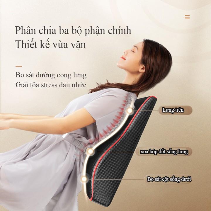 Gối Massage Hồng Ngoại cổ vai gáy tựa lưng đa năng RULAX