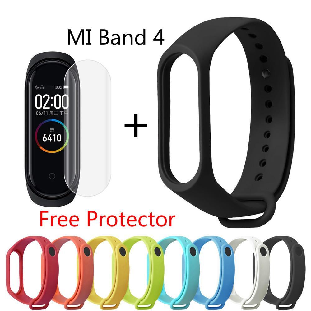 Dây đeo cổ tay thay thế bằng silicon cho Xiaomi Miband Mi Band 4