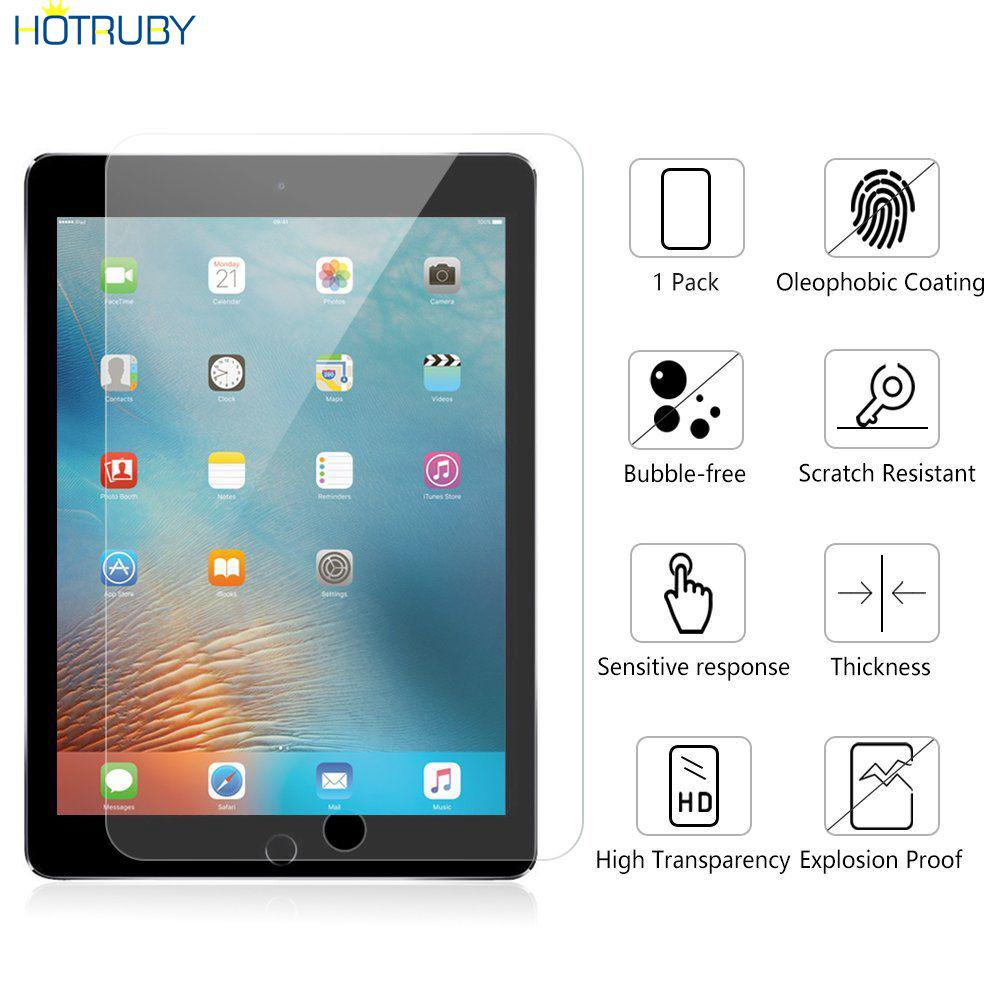 iPad Pro 9.7 2017 Anti-knock Screen Protector Clear Film Tempered Glass HTVN