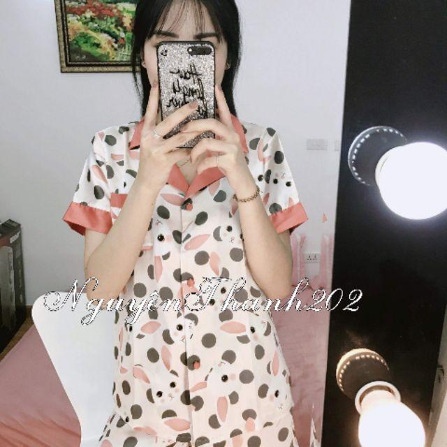 Bộ Pijama lụa hình thỏ
