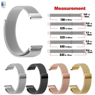 Yy Universal Milanese Magnetic Loop Stainless Steel Watch Strap Band 14-22mm @VN