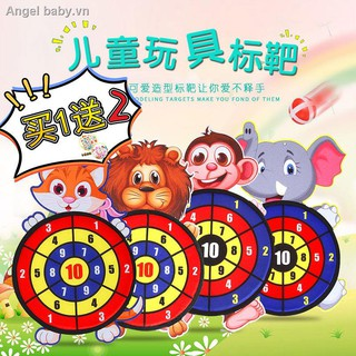☜Children darts sticky ball throwing stick target shooter parent-child interaction in kindergarten toys cartoon animals and slimy
