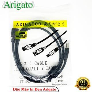 Dây máy In 1.5m đen Arigato chống nhiễu