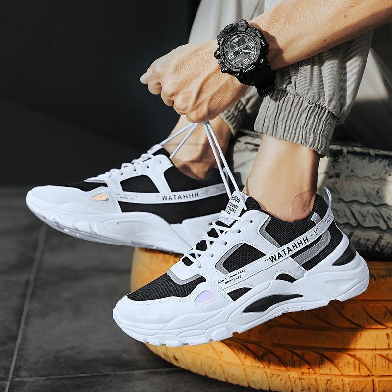 Giày thể thao nam nữ phản quang WATAHHH tăng chiều cao Hàn Quốc rẻ đẹp 2020 BOM - 015-028