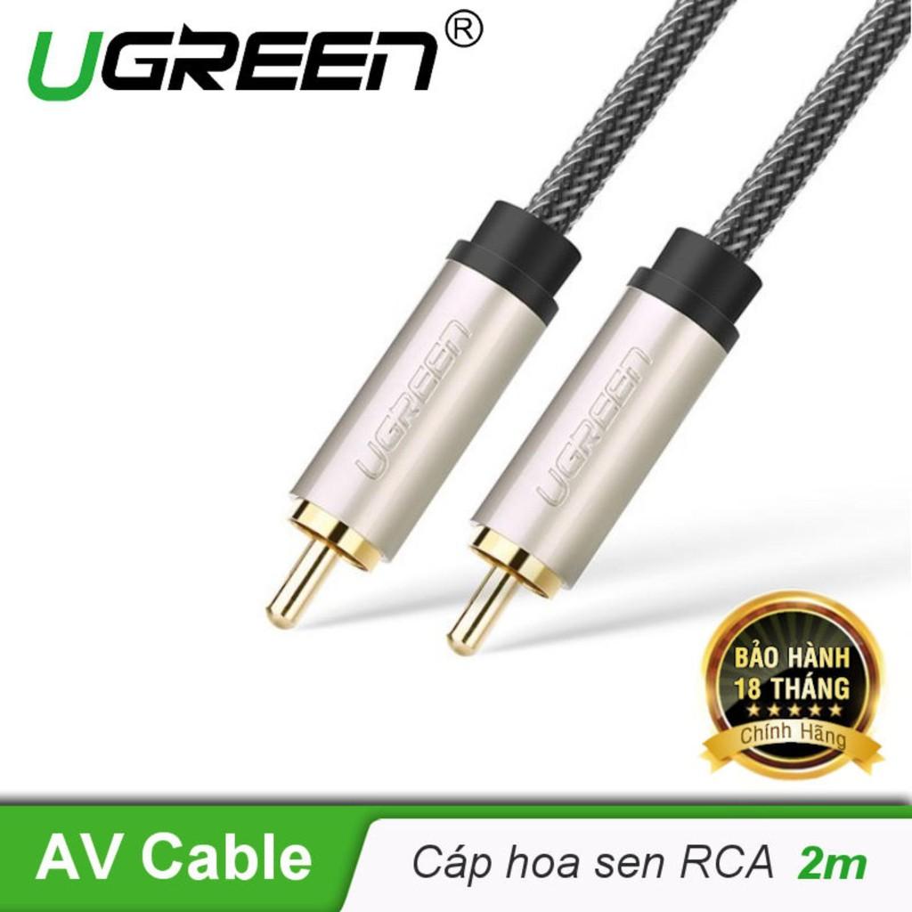 Cáp âm thanh số 2 đầu RCA Coaxial UGREEN AV133 - Hàng chính hãng