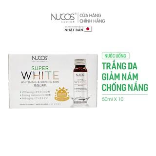 [Mã FMCGM8 giảm 8% đơn 300k tối đa 70k] Nước uống trắng da giảm thâm nám chống nắng Nucos Super White 50ml x 10 chai thumbnail