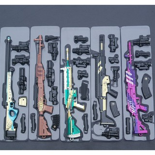 Mô Hình PUBG AKM, M416, SCAR-L, AWM, M24…vv New Skin 17->23cm [ Tặng Kèm Giá Đỡ ]