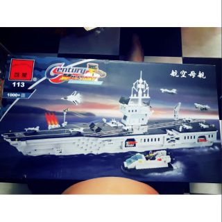 Lego enlighten 113 tau san may bay chien dau xep hinh thong minh tau chien trung quoc chu bo doi canh sat bien viet nam