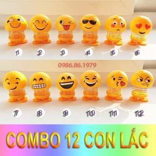 Full trọn Bộ 12 Con lắc lò xo Emoji Vui nhộn