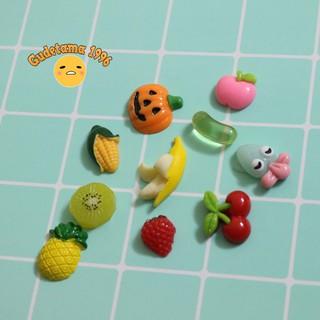 [SALE] Combo 10 charm hoa quả trang trí slime Hàng xịn