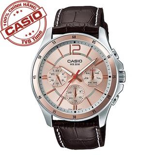 Đồng hồ nam dây da Casio Standard chính hãng Anh Khuê MTP-1374L-9AVDF (43mm)