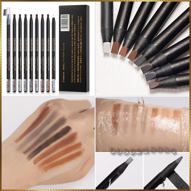Chì xé kẻ mày cao cấp Haozhuang Make Up Milano Eyebrow Pencil siêu mịn bền màu HEP1