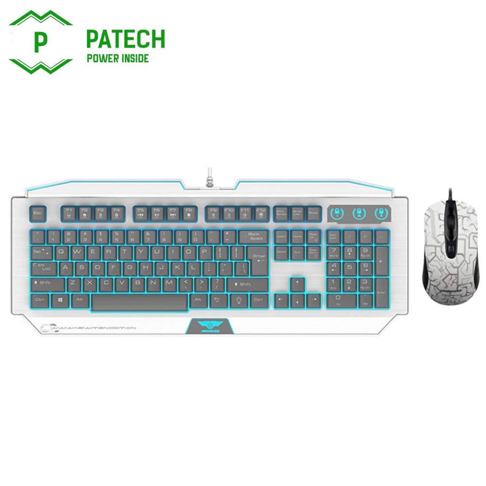 Bộ combo bàn phím bán cơ Newmen GM100 và GX1-S (Trắng )...