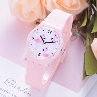 Đồng hồ bé gái dây silicon hình chim hồng hạc cá tính BBShine DH011 thumbnail