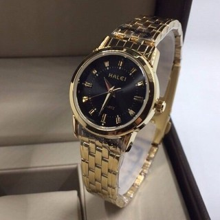 Đồng hồ nữ Halei 502L dây vàng sang trọng tinh tế